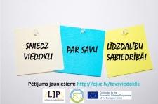 LJP aicina jauniešus piedalīties konkursā un pētījumā