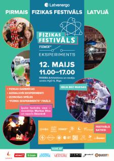 """Aicina uz pirmo fizikas festivālu """"FIZMIX Eksperiments"""""""