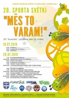 19. un 20. jūlijā notiks ikgadējie sporta svētki