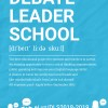 Debašu Līderu skola uzņem dalībniekus