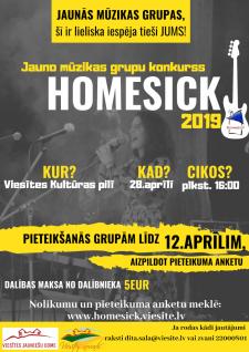 Konkurss HOMESICK jaunajām mūzikas grupām