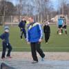 Pirmais futbola treniņš jaunajā laukumā