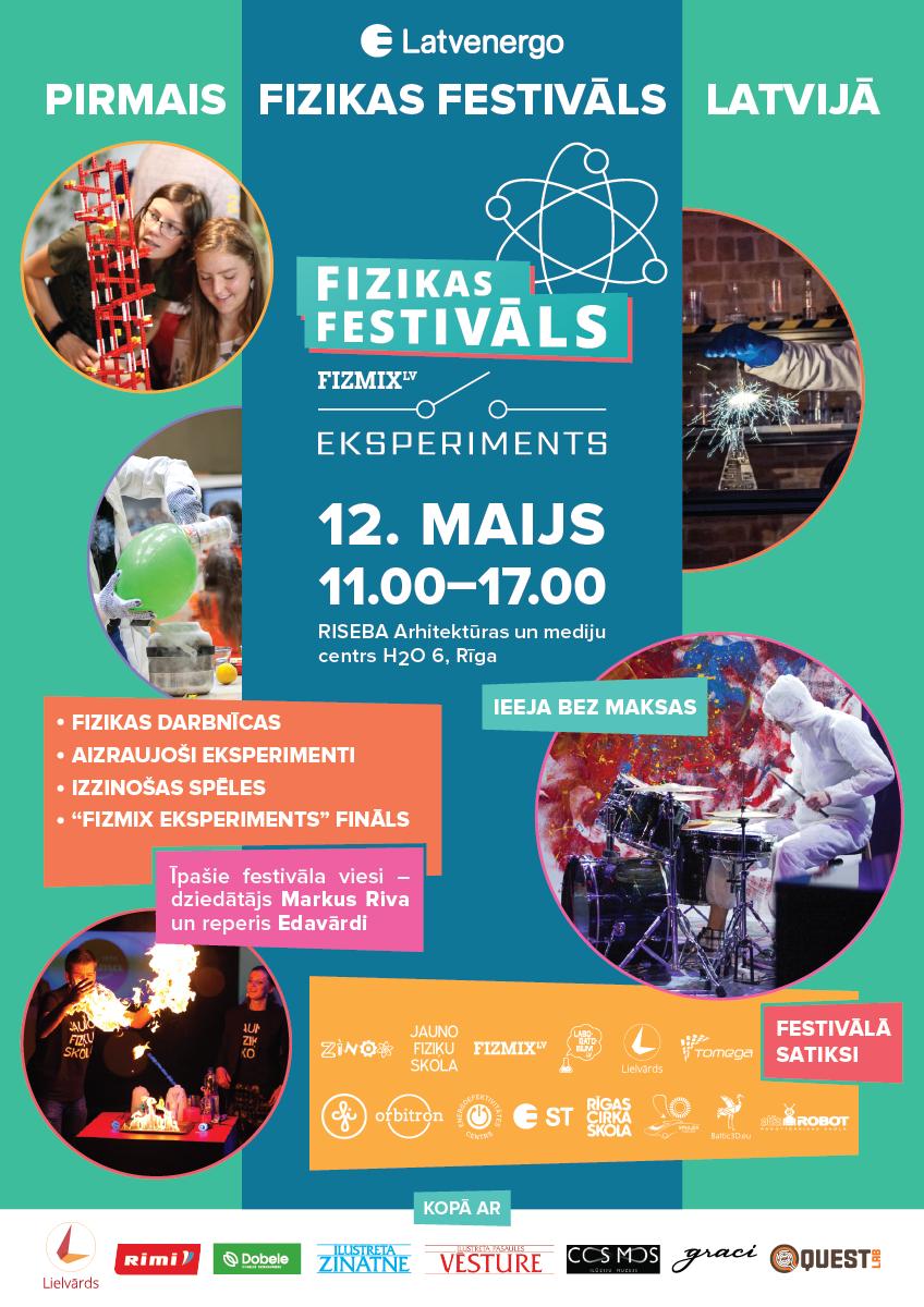 Fizikas festivala plakats