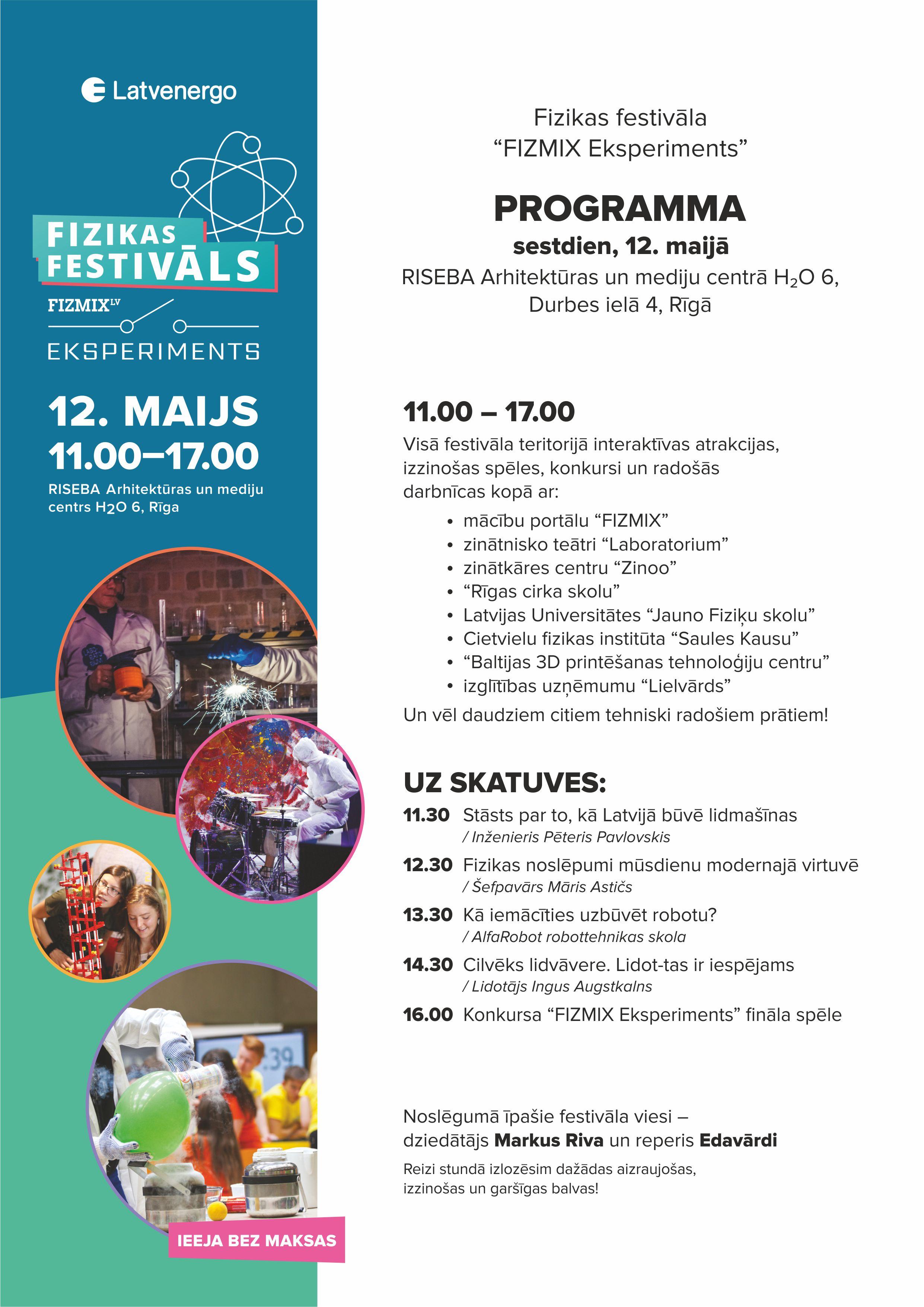 Fizikas festivala programma