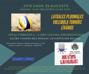 "Latgales pludmales volejbola turnīrs  ""AKTĪVS LATGALEI"" @ JIC ""Kvartāls"" | Līvāni | Latvija"