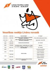 Veselības nedēļa Līvānu novadā @ Līvānu novada sporta iestādes un organizācijas