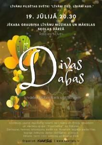 """Sajūtu koncerts """"Divas Dabas"""" @ J. Graubiņa Līvānu Mūzikas un mākslas skolas dārzs"""