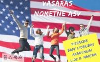Izsludina pieteikšanos bezmaksas vasaras programmai ASV